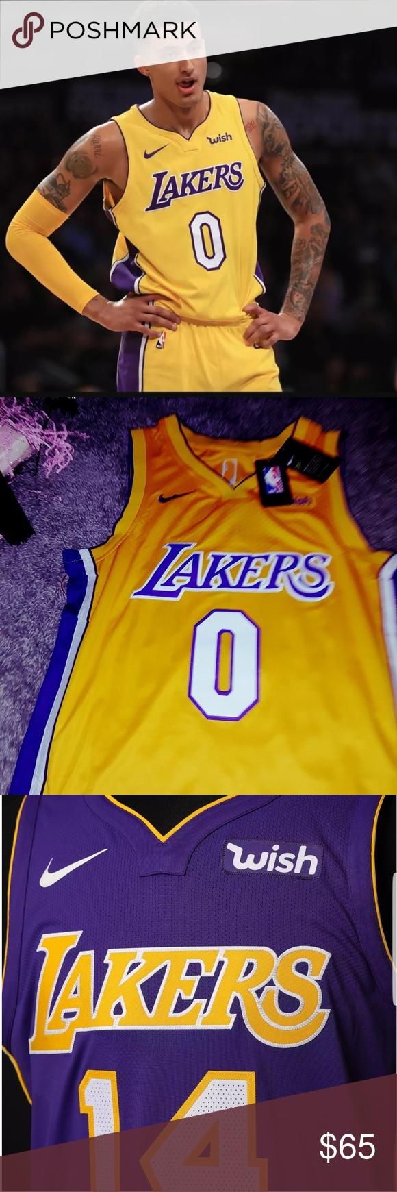 san francisco aeb35 46f43 Lakers Kuzma Nike wish Jersey Nike wish Jersey Los Angeles ...