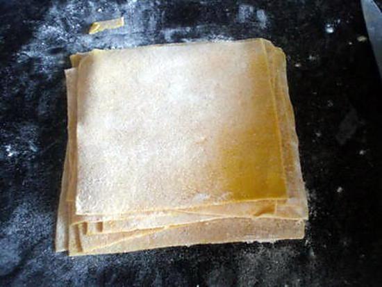 Recette de pâte à raviolis chinois.