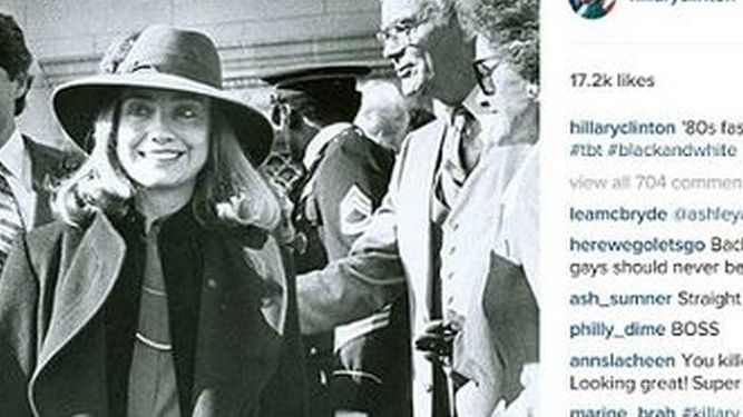 Hillary Clinton publica fotos vintage en sus redes sociales para intentar salvar su campaña
