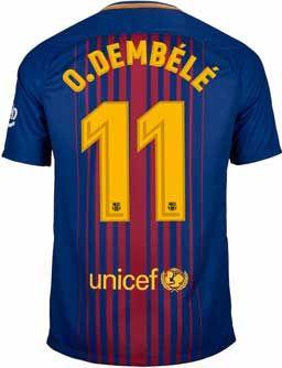 f7a89cd6738 2017/18 Nike Ousmane Dembele FC Barcelona Home Jersey. Get it at SoccerPro