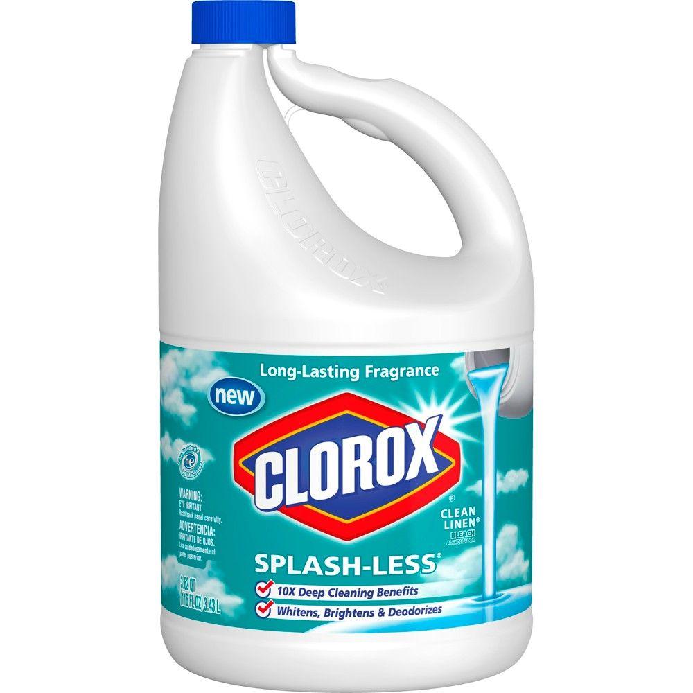 Clorox Splash Less Liquid Bleach Clean Linen Scent 116oz Clorox Bleach Clean Linen Clorox