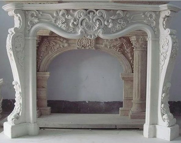Ornate Mantle Marble Fireplaces Fireplace Surrounds