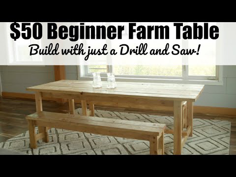 The easiest rustic dining table that you can build