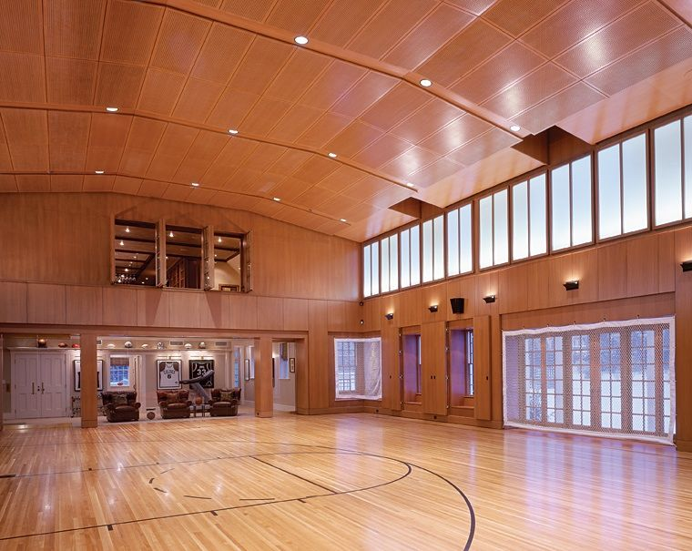 Luxury indoor home basketball court beautiful homes for How much would an indoor basketball court cost