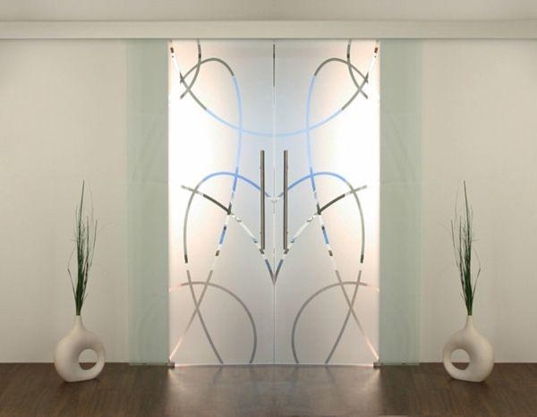 Moderne Glastur Als Elegante Dekoration Zuhause Funny