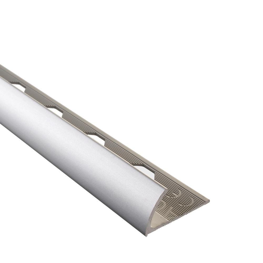 Emac Novocanto Matt Silver 3 8 In X 98 1 2 In Aluminum Tile Edging Trim Nca1338 In 2020 Tile Edge Glass Mosaic Tiles Floor Edging