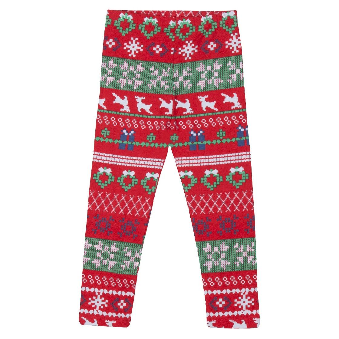 Infant Toddler Girls' Reindeer Fair Isle Sweater Legging - Red $7 ...