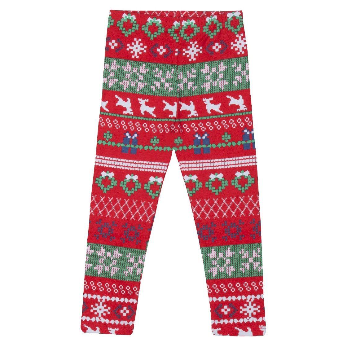 Infant Toddler Girls' Reindeer Fair Isle Sweater Legging - Red $7 ...