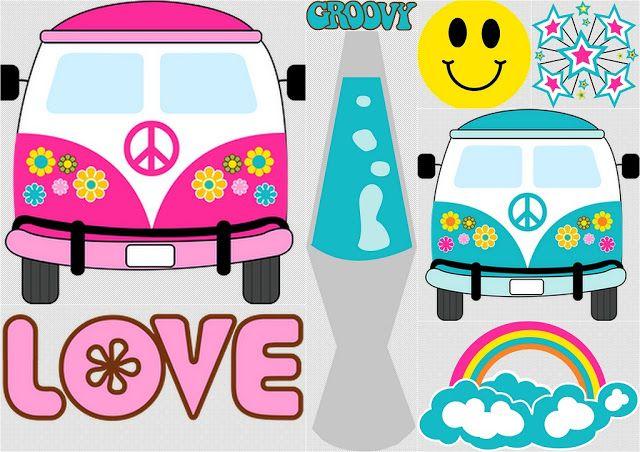 Clipart Para Fiesta Hippy Party Pinterest Fiesta Hippie - Decoracion-hippie-fiesta