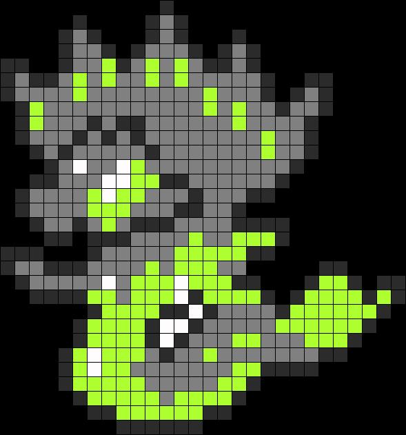 Zygarde Perler Bead Pattern Bead Sprite