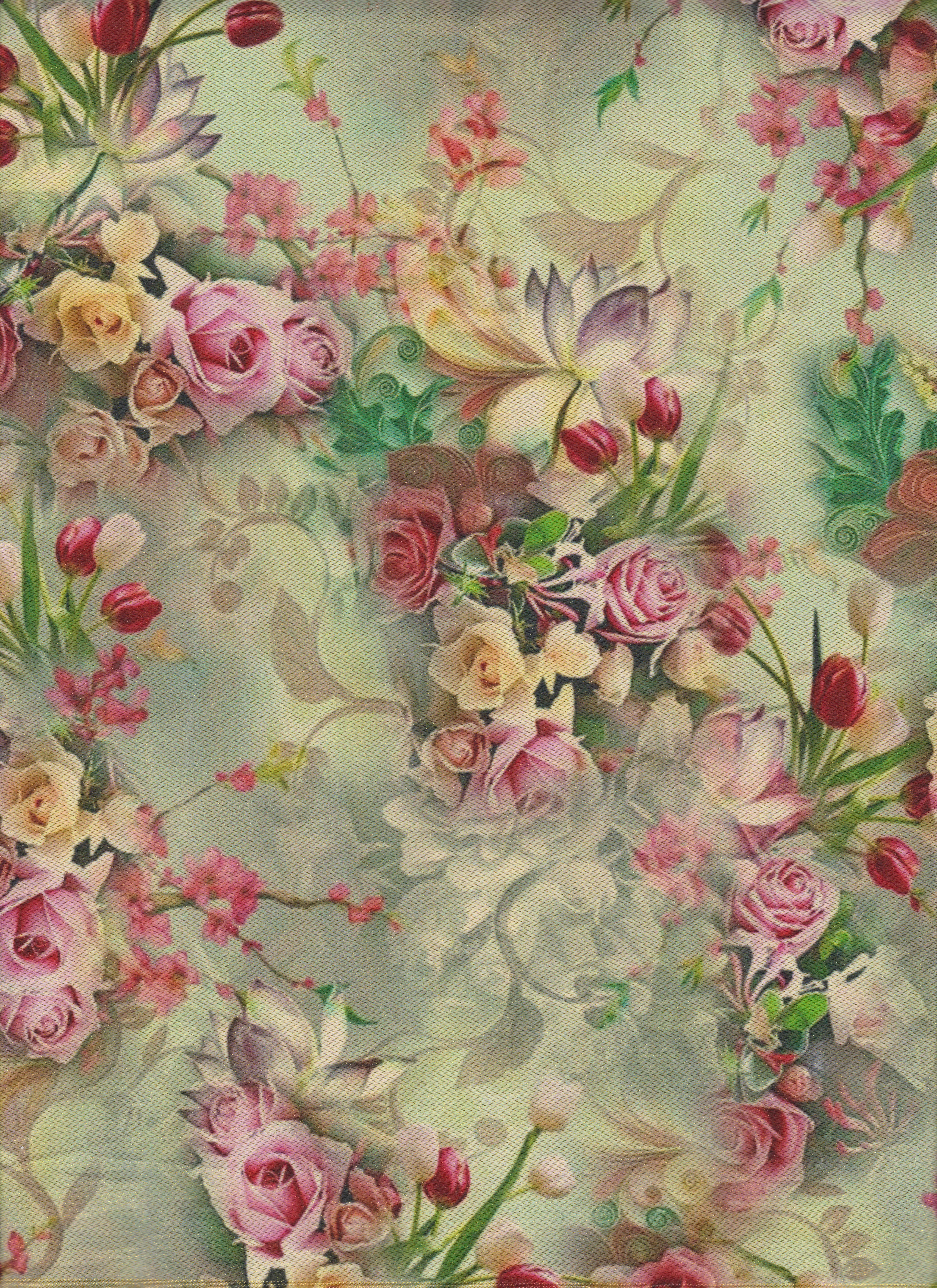 Floral Print Wallpaper Image By Darlene Gigi Guttery On Rose