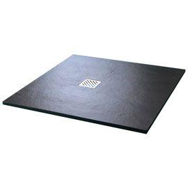 Receveur de douche poser extra plat noir 90 x 90 cm pyro for Receveur douche 90x90 castorama