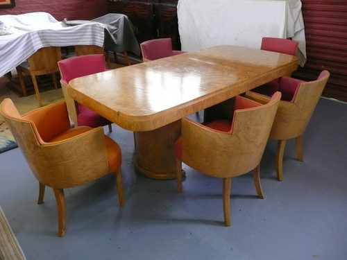 Art Deco Dining Table Chairs Dining Room Furniture Art Deco