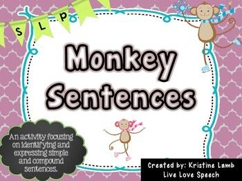 {Identifying & Expressing} Simple and Compound Monkey Sentences