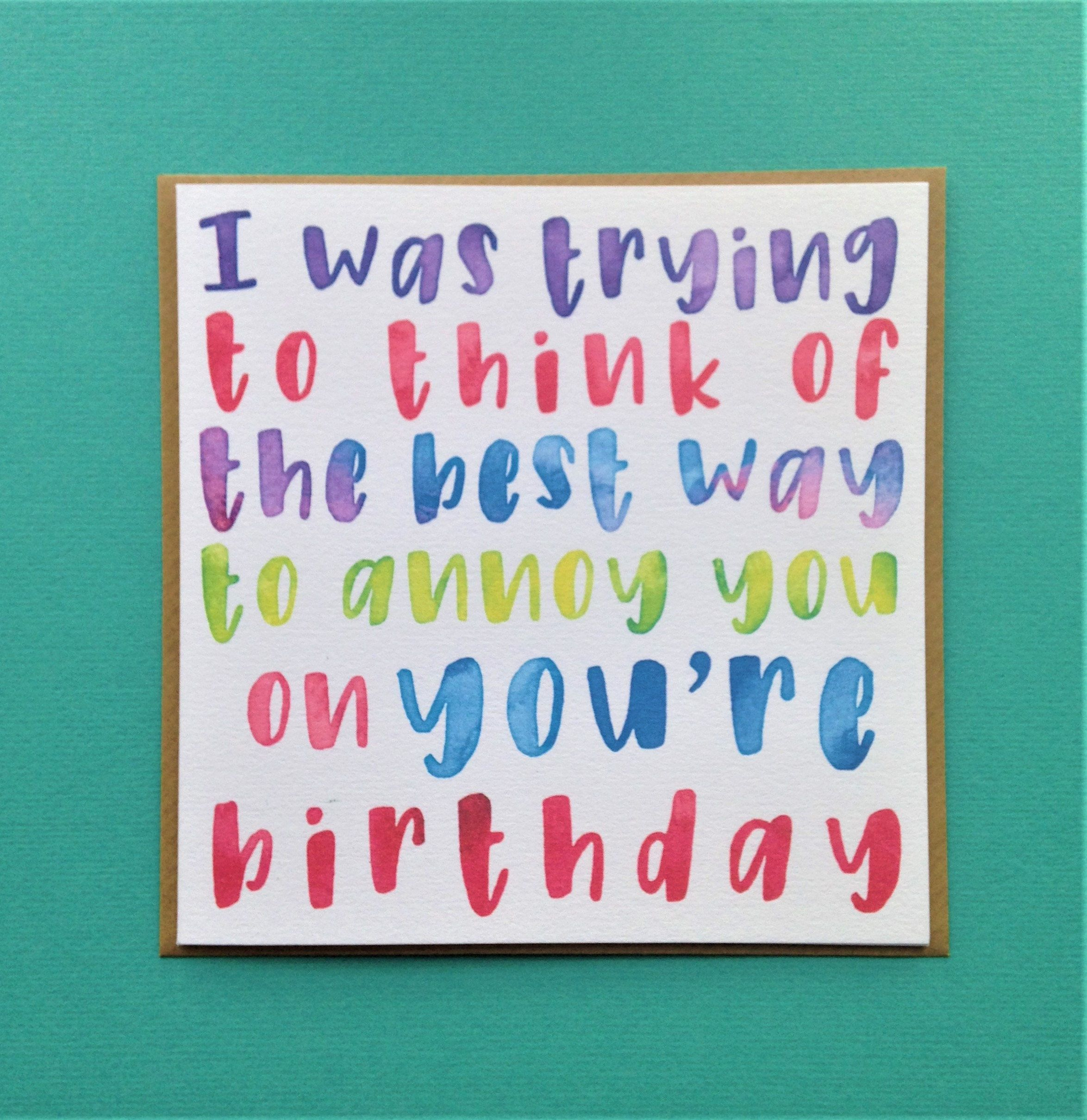 Bad Grammar Birthday Card Annoy You On You Re Birthday Etsy Birthday Quotes Funny Birthday Cards Baby Card Quotes