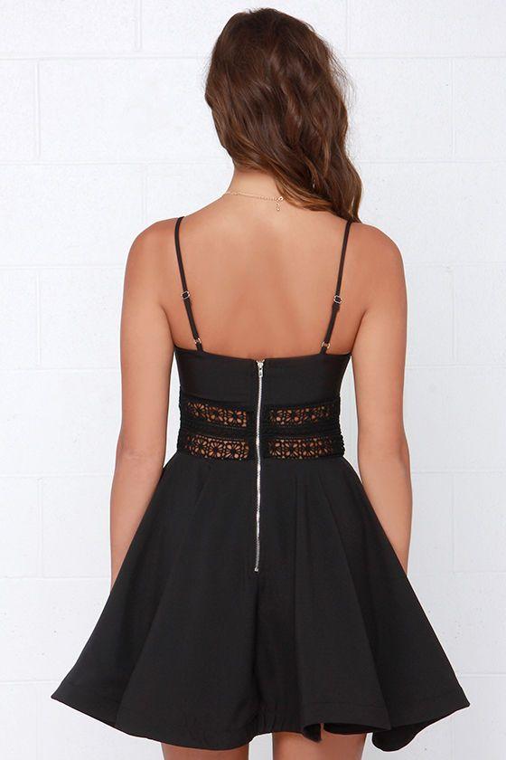 It's Electric Black Lace Dress at Lulus.com!