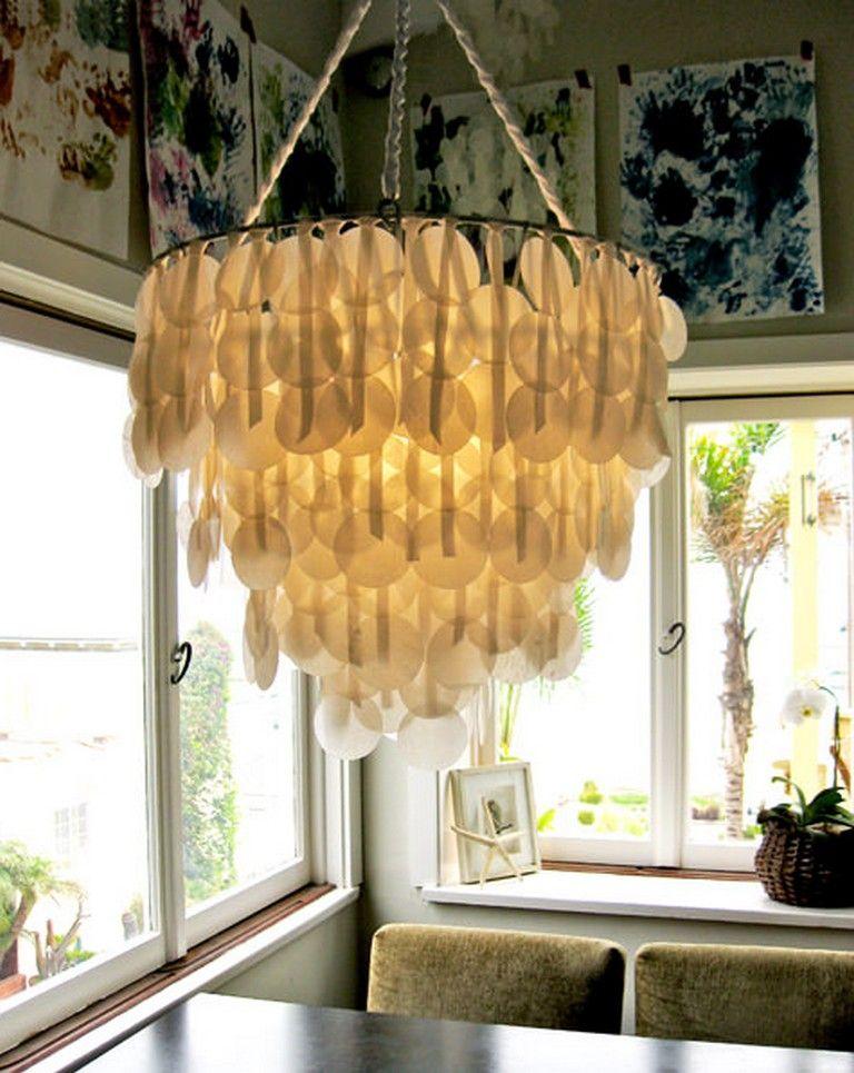 10 Amazing Diy Lighting Updates Diy Chandelier Paper Chandelier Capiz Shell Chandelier