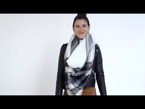 How to Tie a Blanket Scarf - PureWow