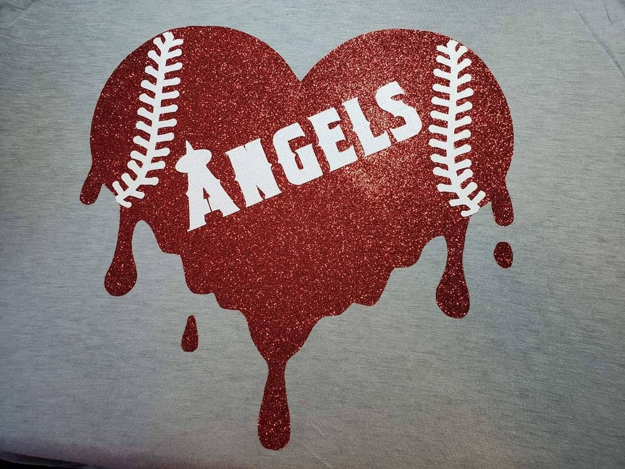Dodger Angel Bleeding Heart T Shirts Etsy Bleeding Heart Dodgers Angels Dodgers