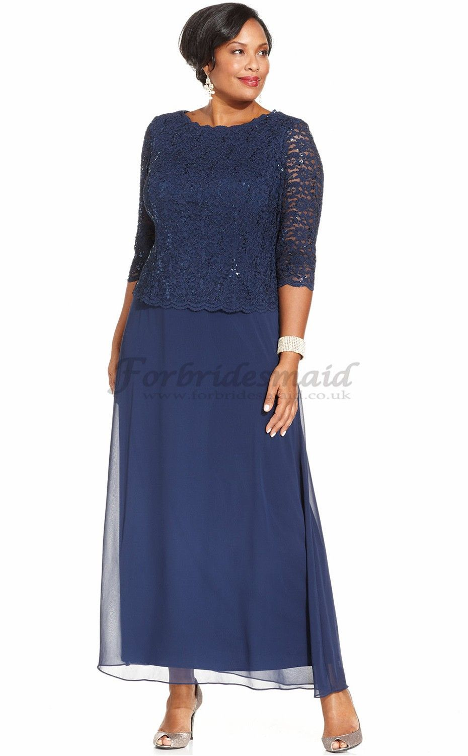 Navy blue plus size bridesmaid dresses choice image dresses new style navy ankle length chiffon lace plus size bridesmaid new style navy ankle length chiffon ombrellifo Images