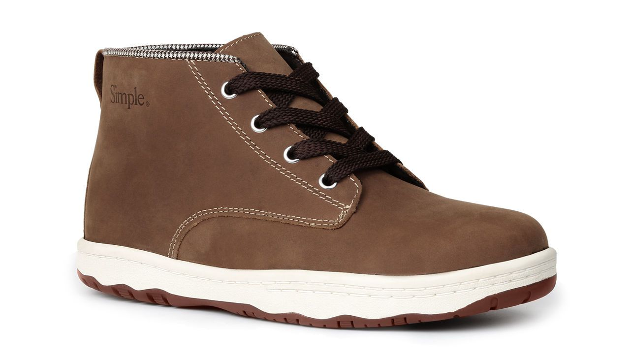 Simple Men's Barney Casual Original Lace Up Chukka Ankle Boots Tan