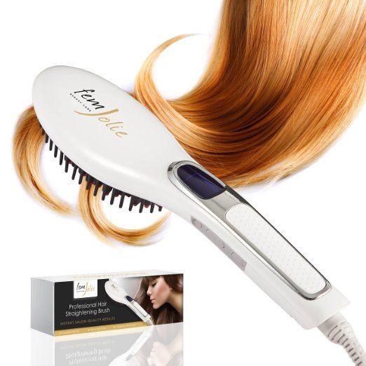 FemJolie Hair Straightening Brush Best for Beauty Styling