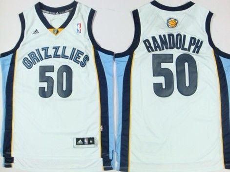 Memphis Grizzlies #50 Zach Randolph Revolution 30 Swingman White Jersey