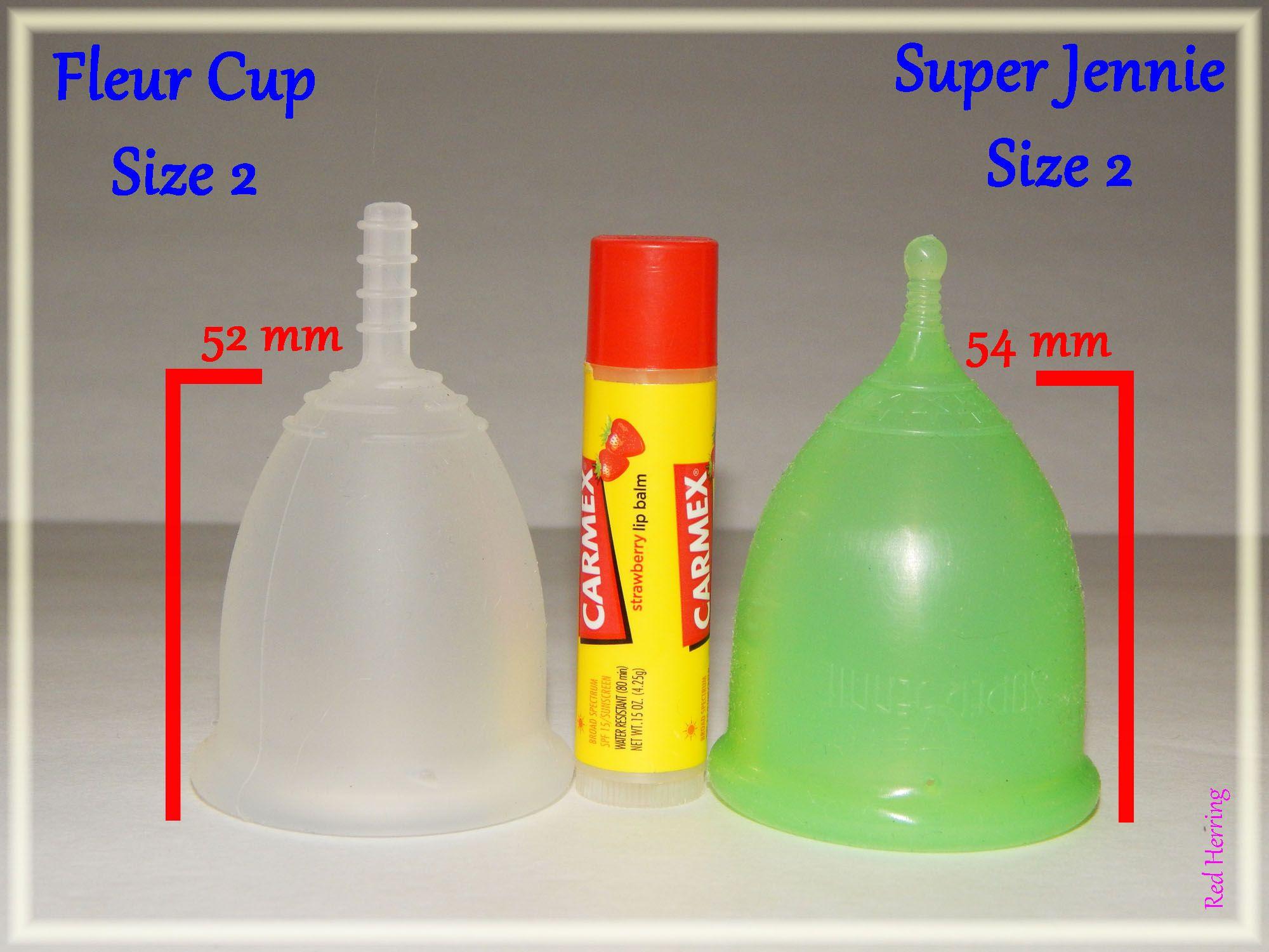 Fleur Cup Vs Super Jennie Size Large Menstrual Cup Cup Dish