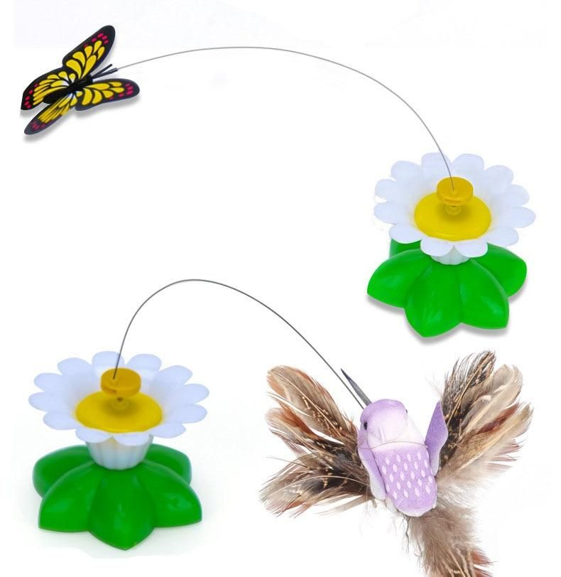Rotating Butterfly or Bird Cat Toy [ENJOY WATCHING YOUR