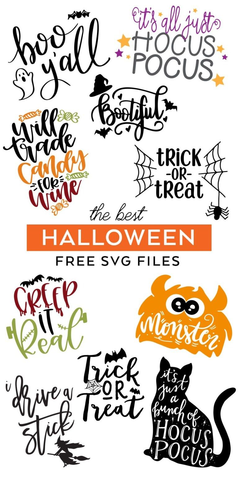 FREE Halloween SVG Files Halloween Files Cricut (With