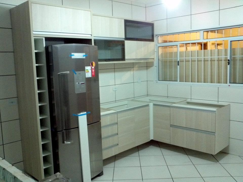 Curso Artesanato Sorocaba ~ cozinha pequena armario planejado clara decoraç u00e3o  Cozinha pequena, porém organizada