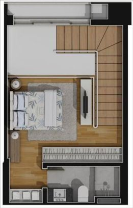 apartamentos planta 52m2, piso superior