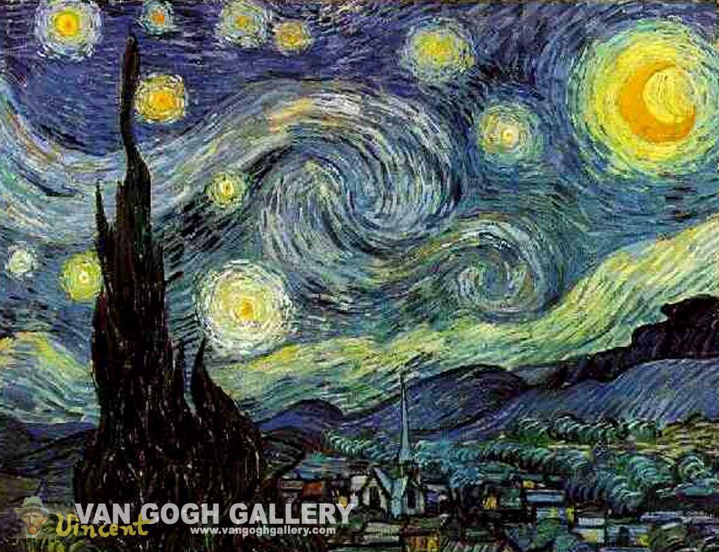 Vincent van Gogh- (Sterrennacht) post-impressionisme