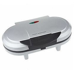 Cook's Essentials Silver Double Non-Stick Electric Pancake Maker (Refurbished) | Overstock.com Shopping - The Best Deals on Specialty Appliances #pancakemaker Cook up a stack of flapjacks using this electric pancake maker by Cook's Essentials. In just minutes it makes two perfect, flip-free 5.5-inch pancakes, omelets, and more. #pancakemaker
