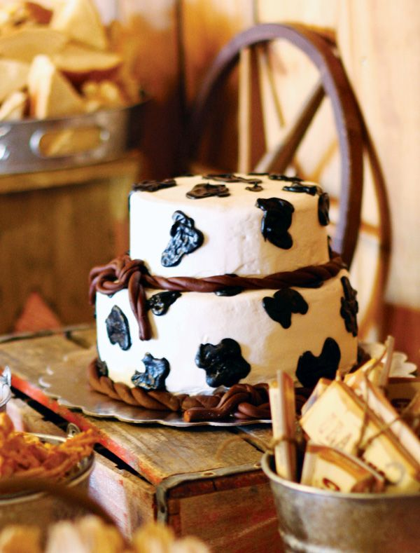 Rustic Vintage Cowboy First Birthday Cake Pinterest Cowboys