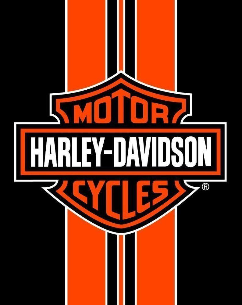Harley Davidson Orange Stripe Bath Pool Beach Towel 54x68