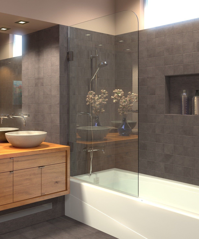 shower showers instead frameless bathroom ark pivot hinges bathtub 8mm become doors curtains prefer unavailable brushed tub