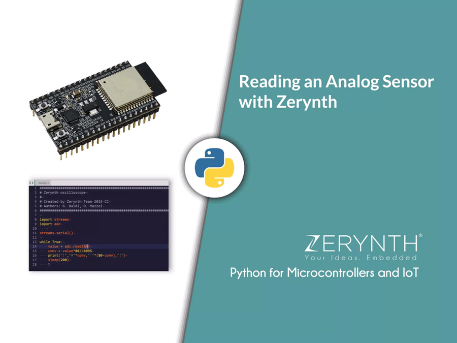 How to Read an Analog Sensor with Zerynth (Python for IoT