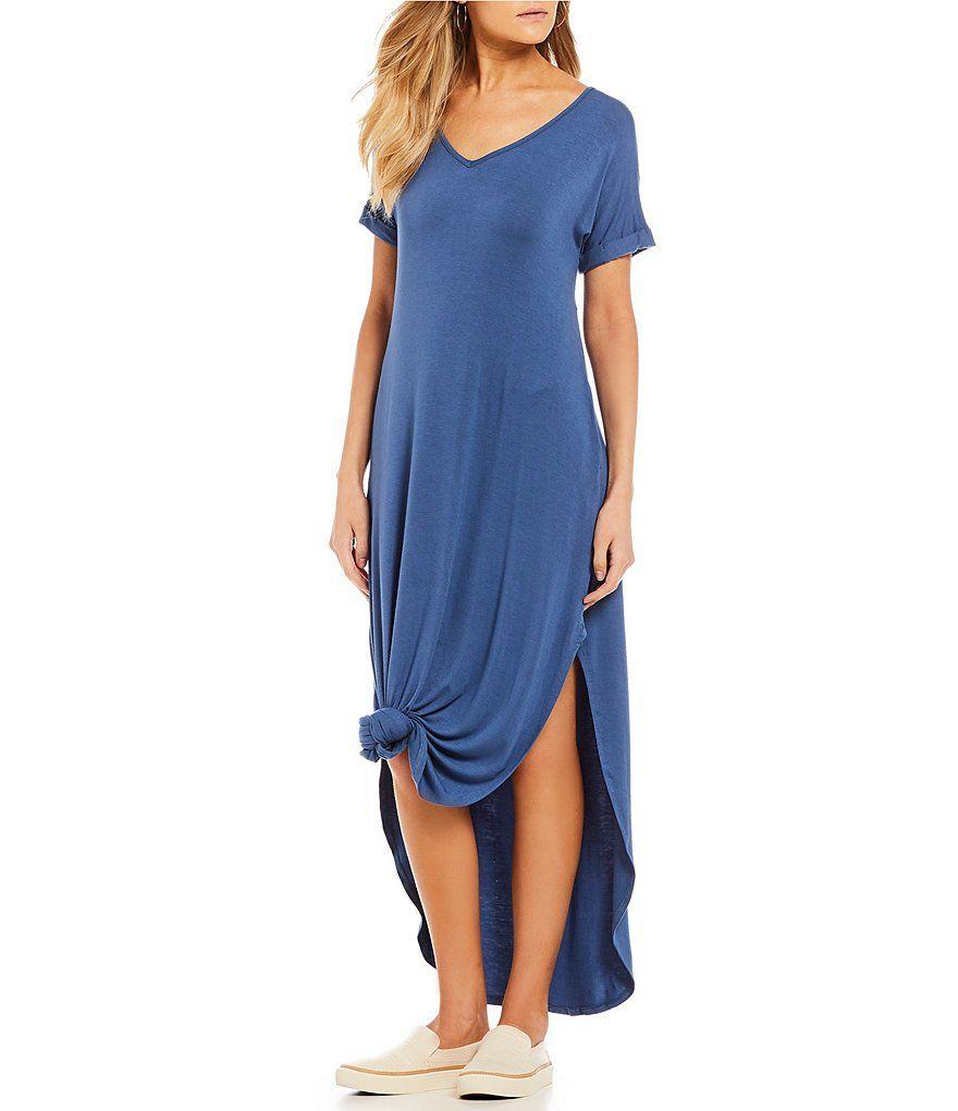 Stilletto S Oversized T Shirt V Neck Maxi Dress Dillard S Split Maxi Dress Casual Petite Maxi Dress Maxi Tshirt Dress [ 1020 x 880 Pixel ]