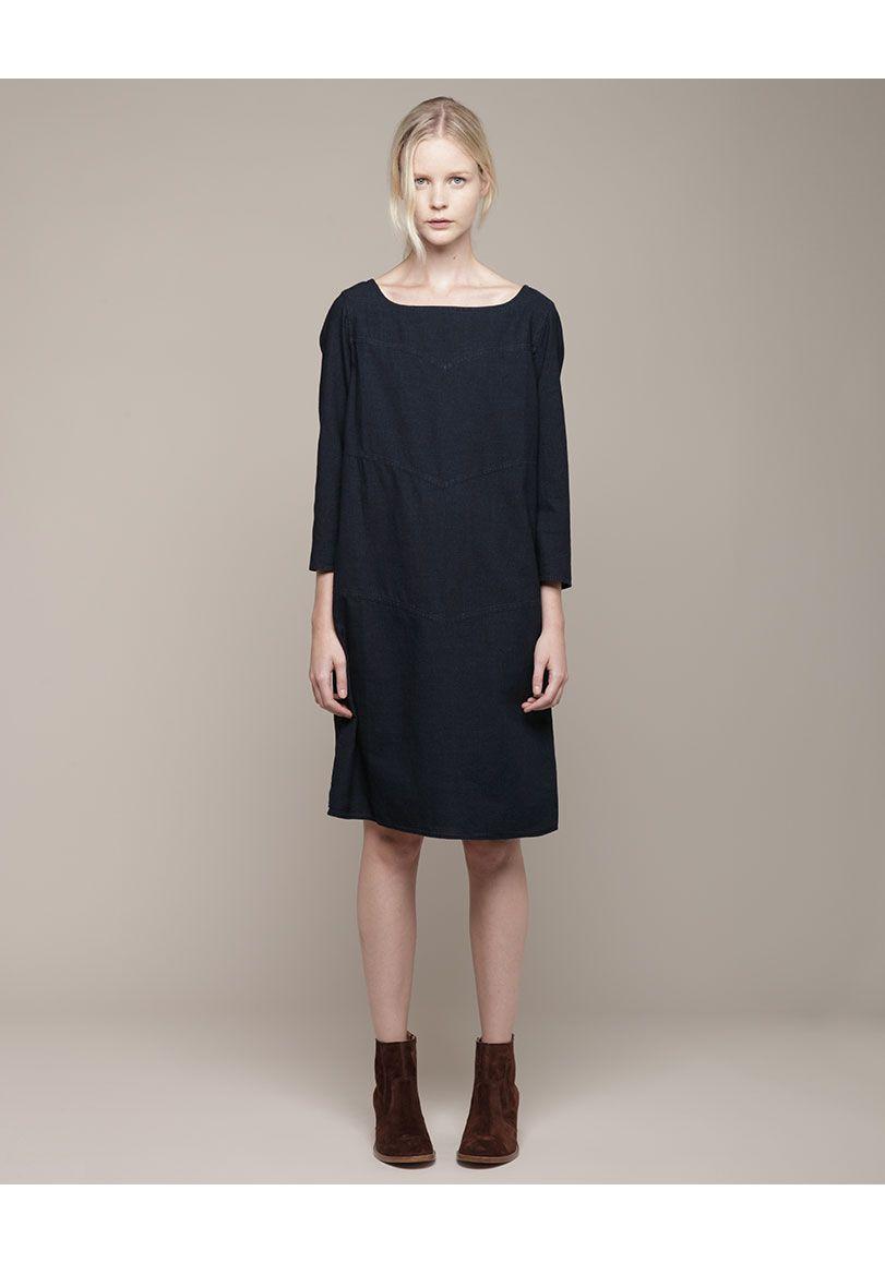 A.P.C. / Yoked Russian Dress | La Garçonne $269.50
