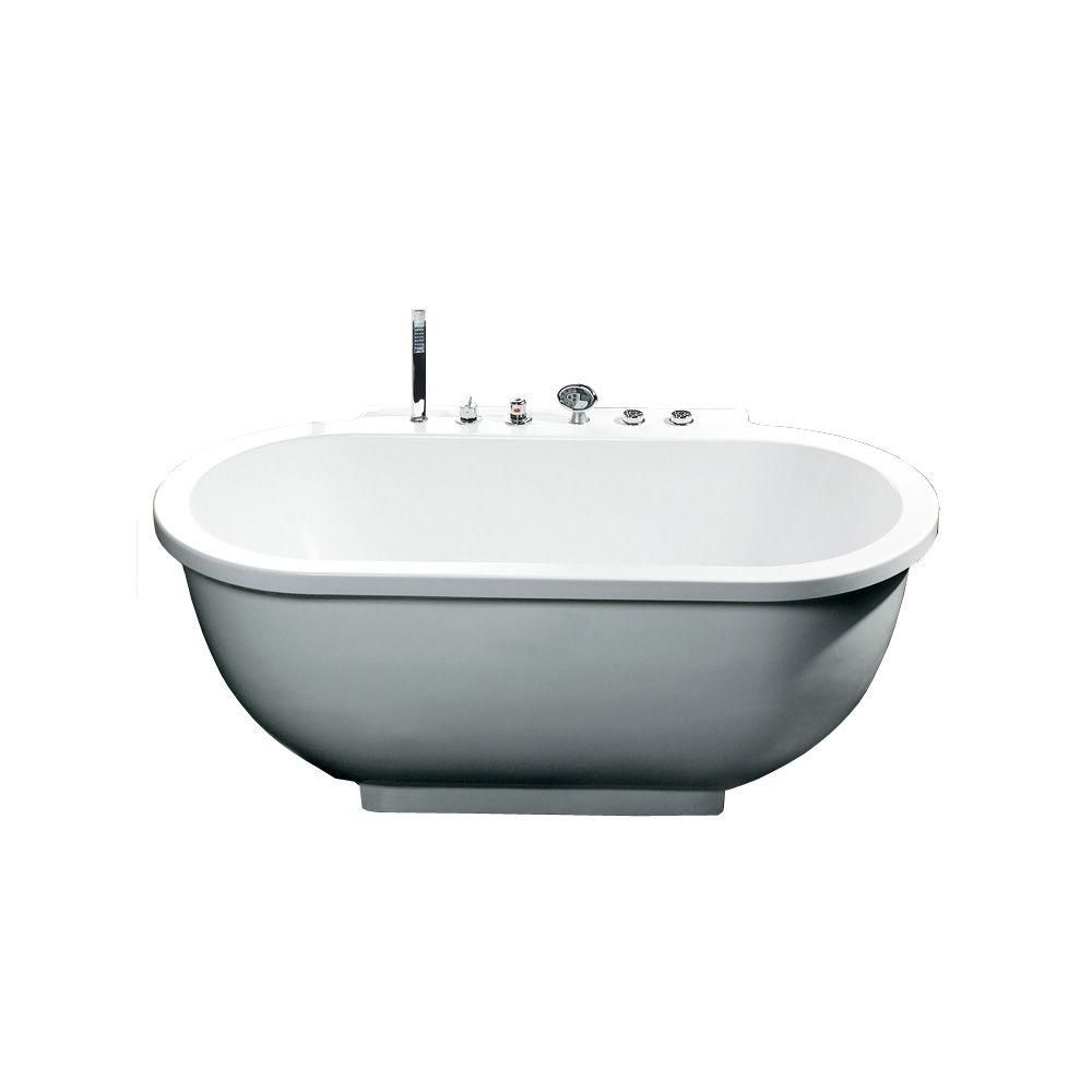 Ariel 6 ft. Whirlpool Tub in White | Tubs, Attic bathroom and Attic