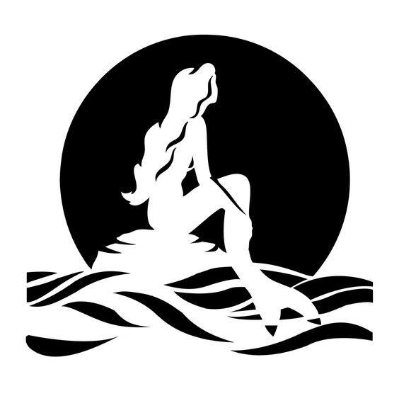 Ariel The Little Mermaid Pumpkin Carving Stencil Template