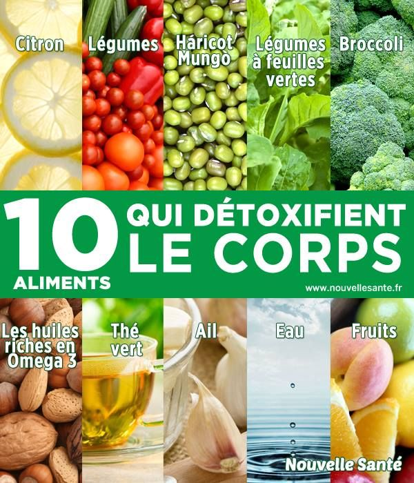 10 Aliments qui détoxifient le corps http://www.santeplusmag.com