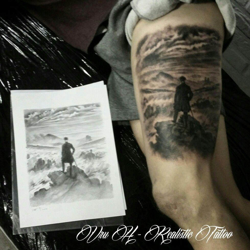 Caspard David Friedrich Vru H Amazing Tattoo Realism Of