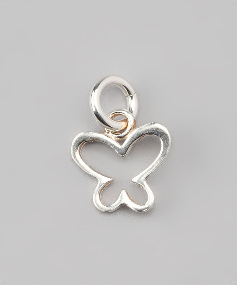 Look at this #zulilyfind! Sterling Silver Butterfly Outline Charm by Five Little Birds by Littlefield Lane #zulilyfinds