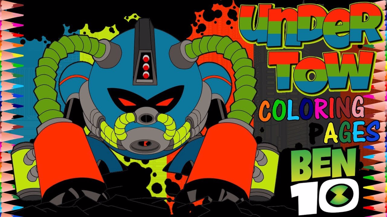 Post Update Ben 10 Reboot Kevin 11 Undertow Coloring Page Ben 10 Coloring Pages Color