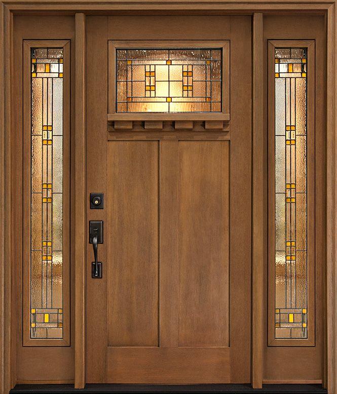 Pinterrific Garage Door Makeover Inspiration Craftsman Front Doors Craftsman Style Front Doors Fiberglass Entry Doors