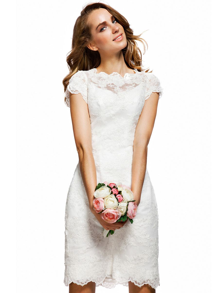 Cap Sleeve Lace Bridesmaid Dress | Plus and Petite sizes available ...