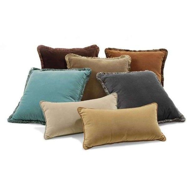 Velvet Decorative Throw Pillows Liked On Polyvore Featuring Home New Decorative Pillows With Fringe