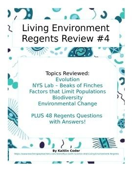 living environment regents review packet